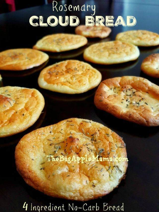 """Introducing """"Cloud Bread,"""" a Slice of Low-Carb, Gluten-Free Heaven. Try making this recipe with rosemary for a flavorful kick."""