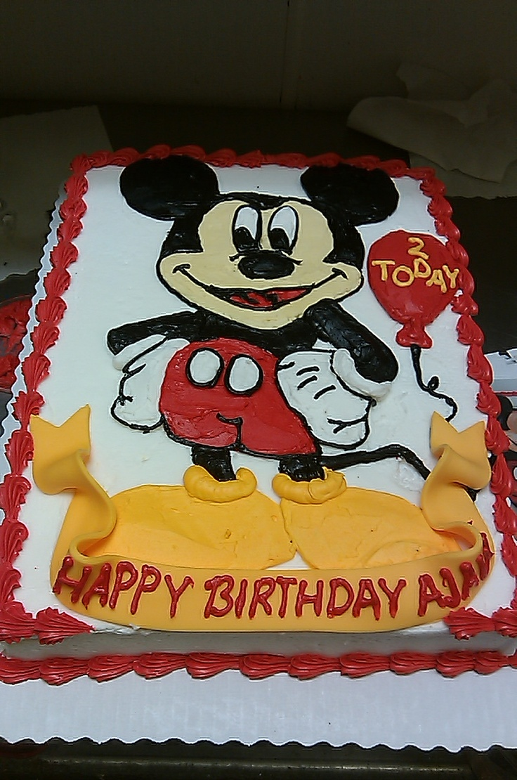 Mickey Mouse Birthday Cake Images Sheet