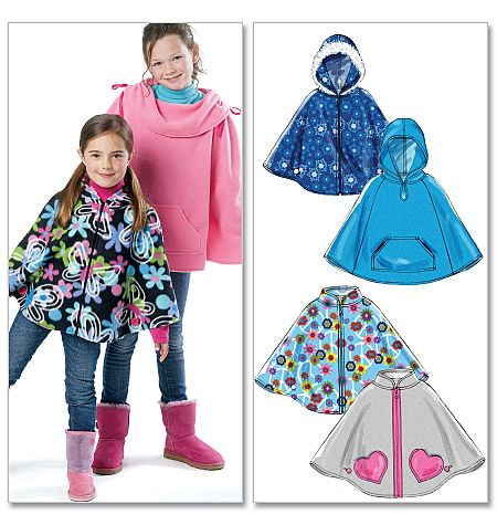 Girls Fleece Poncho (McCall's 6431)