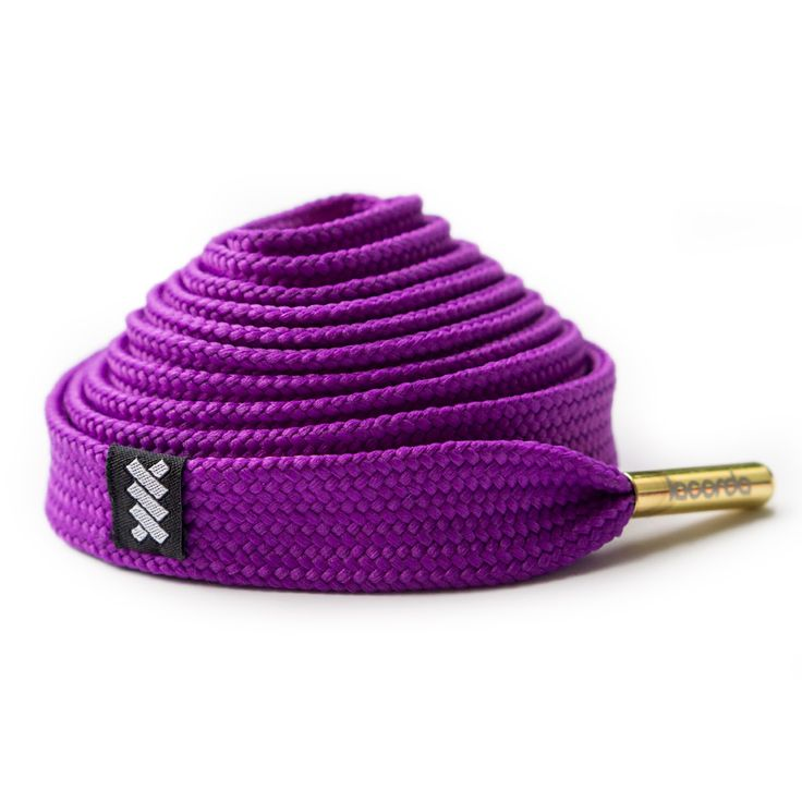 new style 25052 c9840 ... gold shoelaces silver Flat Shoe laces  OG Shoelace Belt – Purple .