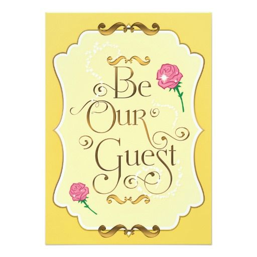 Be Our Guest Pink Roses Elegant Event Party Invitation