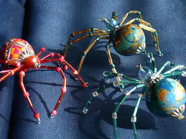 christmas spiders, made by yes... ME!