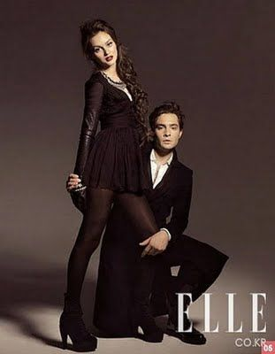 Leighton Meester and Ed Westwick in Elle Korea