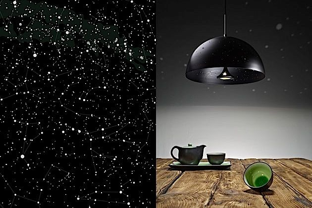 starry ceiling light | Starry Lights – turn your ceiling into a starry sky | dailybri... could diy this couldn't i.... with a lamp, black paint, and something to glue the bottom with
