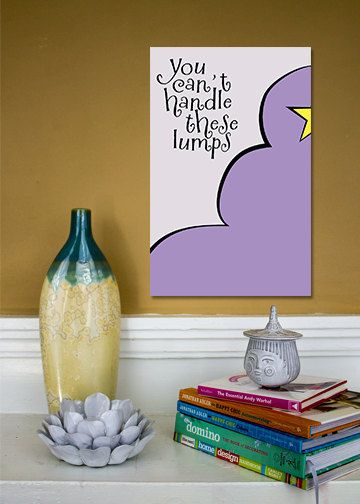 Lumpy Space Princess // Adventure Time Minimalist Quote Poster