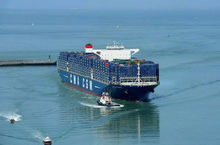 One of CMA CGM's largest ships, the 18,000 TEU MV CMA CGM Kerguelen, was delivered in July 2015 and is the first of six similar ships ordered by CMA CGM. Photo: CMA CGM Group