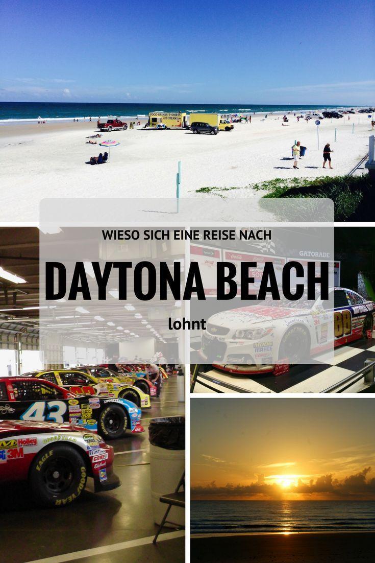 Daytona Beach Daytona Beach liegt im US-Bundesstaat Florida. Amerikanische Studenten fahren nach Daytona Beach, um Spring Break zu feiern. Und Motorradfahrer kommen jedes Jahr zur Bike Week in die Stadt. Wenn ich an Daytona Beach denke, dann denke ich als