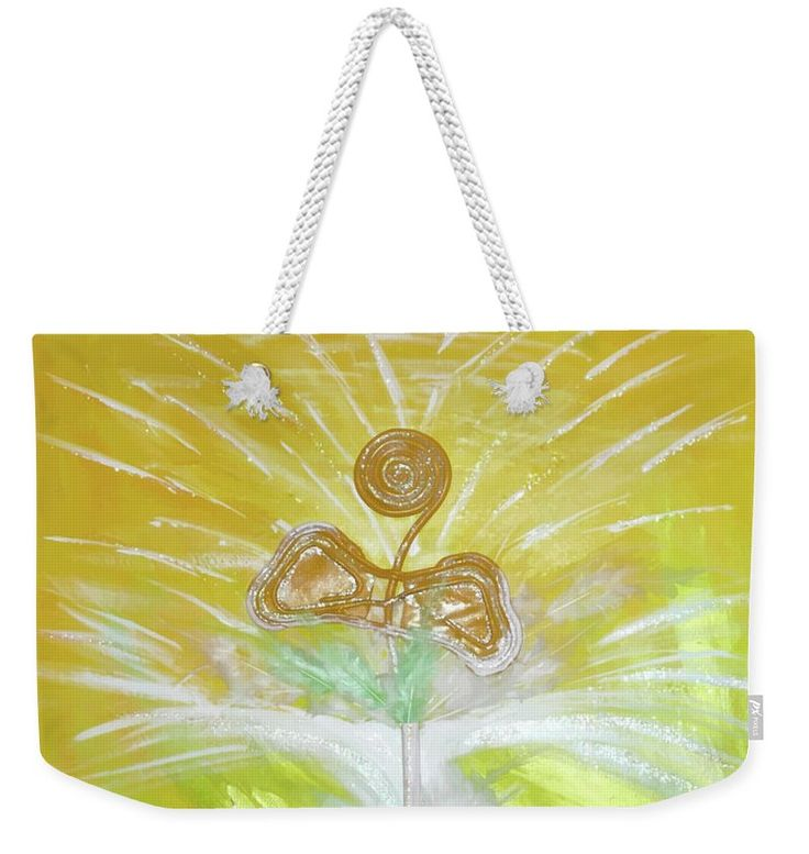 Abstract Weekender Tote Bag featuring the painting Goood by Ron Labryzz