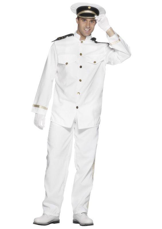 Strój Marynarza. Doskonałe przebranie na imprezę mundurową, w stylu marynarskim lub bal karnawałowy.