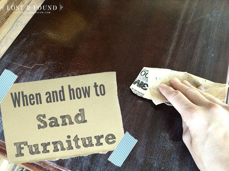 "When to Sand Furniture: If I had a dollar for every time I have been asked that question I'd be a rich woman:) My answer is always the same: ""It depends."""