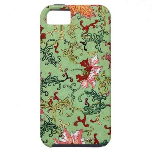 Green Lotus Design iPhone 5 Cover