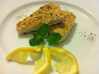 Pesce spada con panatura di nocciole e menta