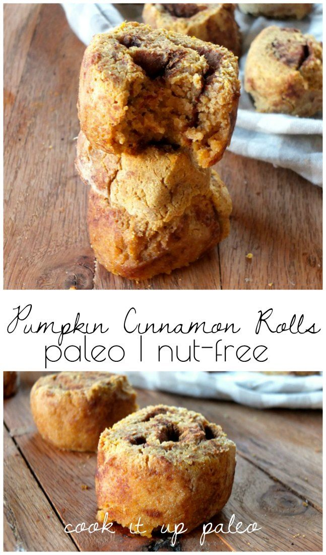Paleo Pumpkin Cinnamon Rolls made with Otto's Naturals Cassava Flour | Cook It Up Paleo