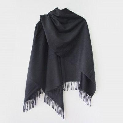 Redcurrent Black Essential Wool Cape $175.00.