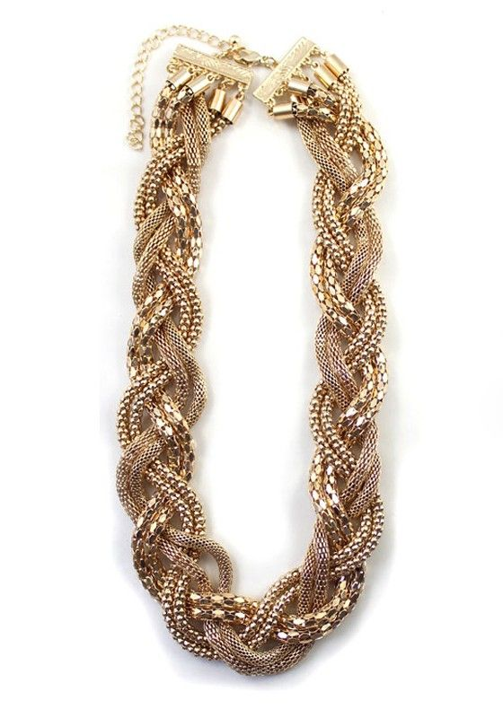 Golden Fashion Alloy Chain Necklace