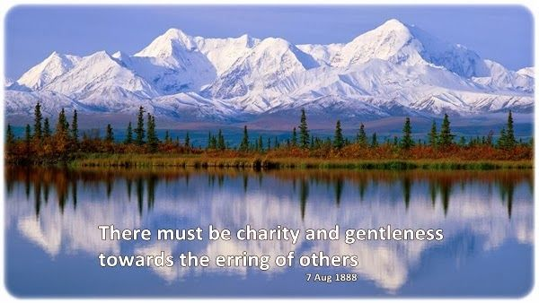 There must be charity and gentleness towards the erring of others