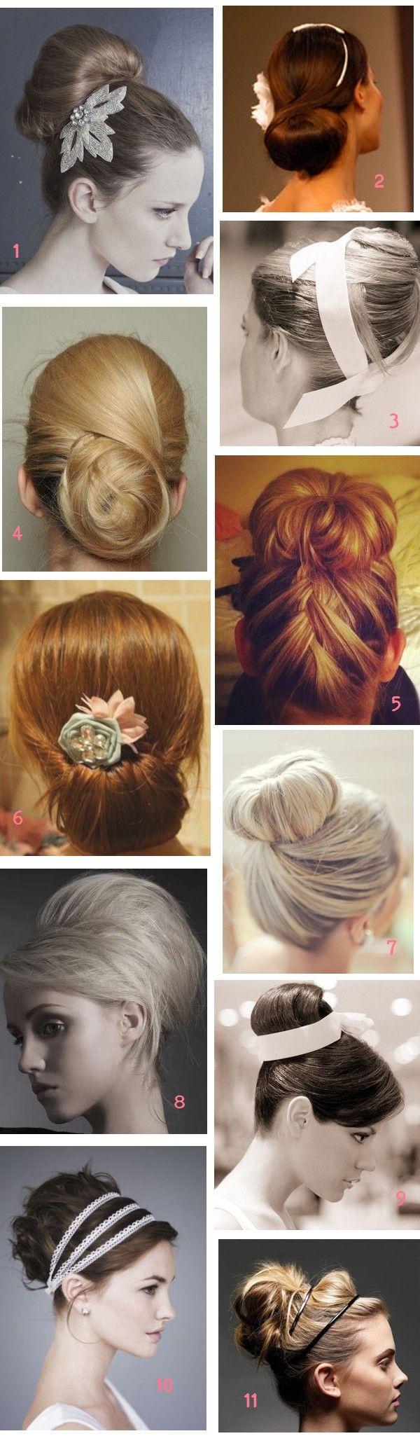 chignon mariée wedding hair bun updo