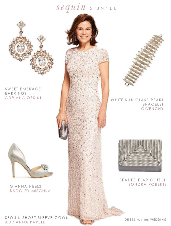 Blush Sequin Dress For The Mother Of Bride