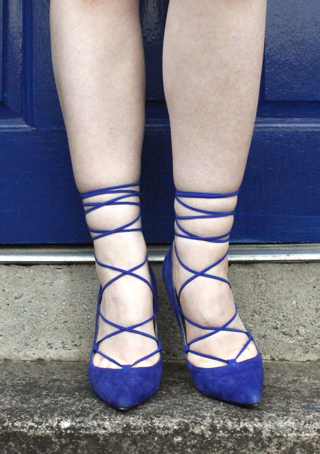 STUDS ON THE SOLES OF HER SHOES: DIY Lace-Up Shoes