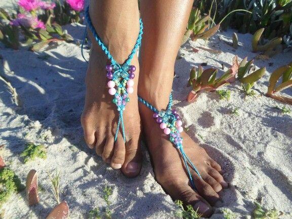 Blue barefoot sandal
