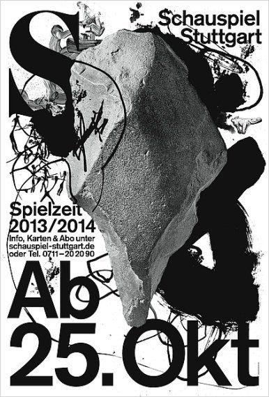 """100 beste Plakate 2013: """"Schauspiel Stuttgart. Spielzeit 2013/ 2014"""""""