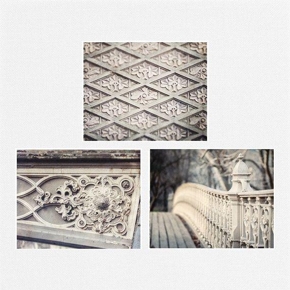 Central Park Print Set New York City Art Soft Grey Home Decor