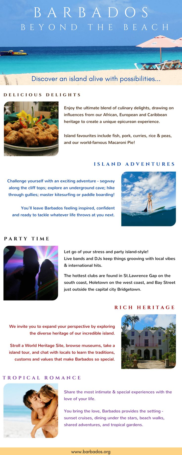 Barbados Beyond The Beach: Step beyond the beautiful beaches for adventure, culinary delights, a rich heritage, partying Caribbean-style, and island romance!