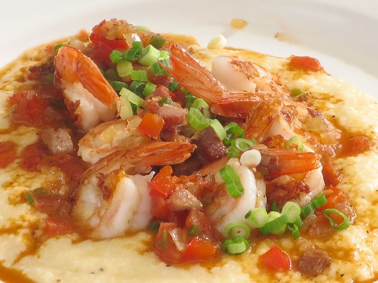 Shrimp and Grits recipe from Amanda Freitag via Food Network