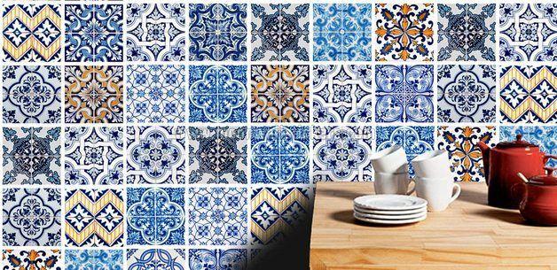 Cubierta de Azulejos Vinilos para Cocinas de wall-decals por DaWanda.com