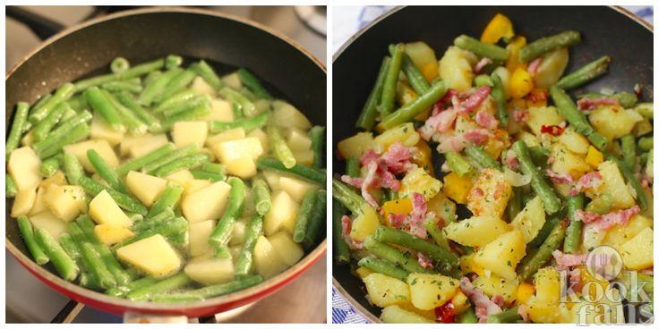 Voor dit heerlijke gerecht heb je maar 1 pan nodig! Heerlijk, gerechten die je in één pan kan maken. Scheelt je enorm veel gedoe in de keuken, afwas en het is gewoon lekker overzichtelijk.  En wij houden ervan om na het eten gewoon lekker met de benen omhoog op de bank te zitten zonder nog een en