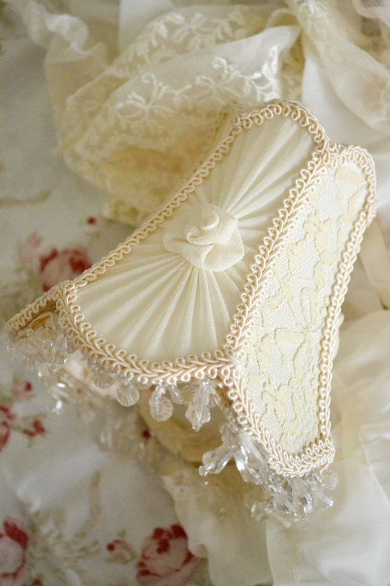Gorgeous Vintage Silk and Lace Tiny Lampshade