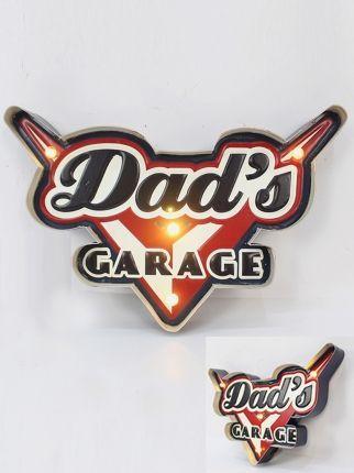 Dad\'s Garage Işıklı Pano