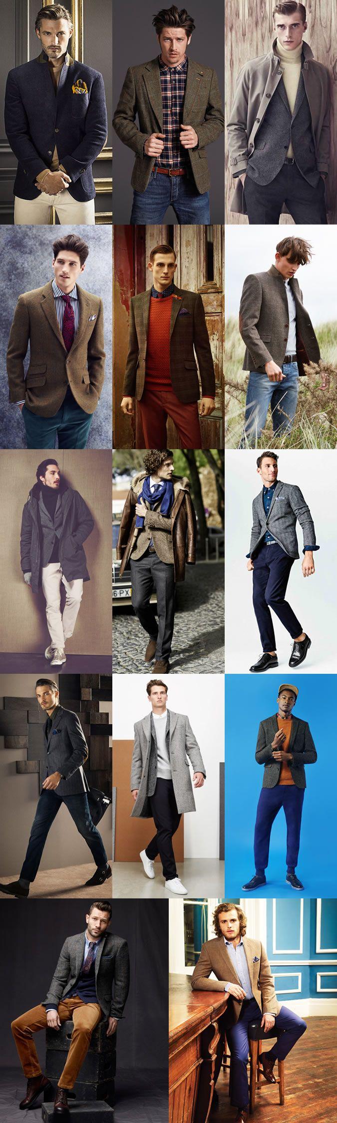 Men's Autumn/Winter Essential Fabrics: Tweed as The Tweed Blazer Lookbook Inspiration