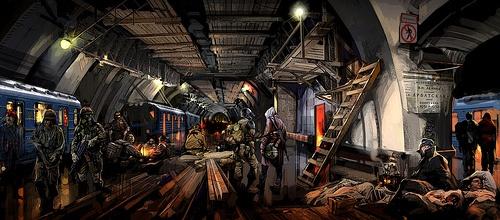Post-Apocalyptic Metro (Metro 2033 Concept Art)