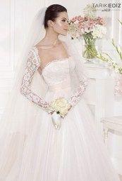 Tarik Ediz свадебные платья с кружевными узорами