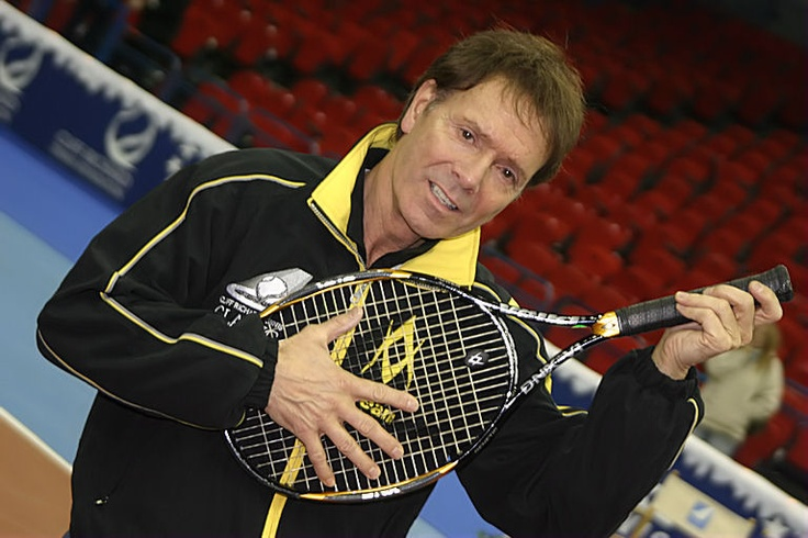 Singer Cliff Richard at a celebrity tennis event at the NIA in Birmingham.