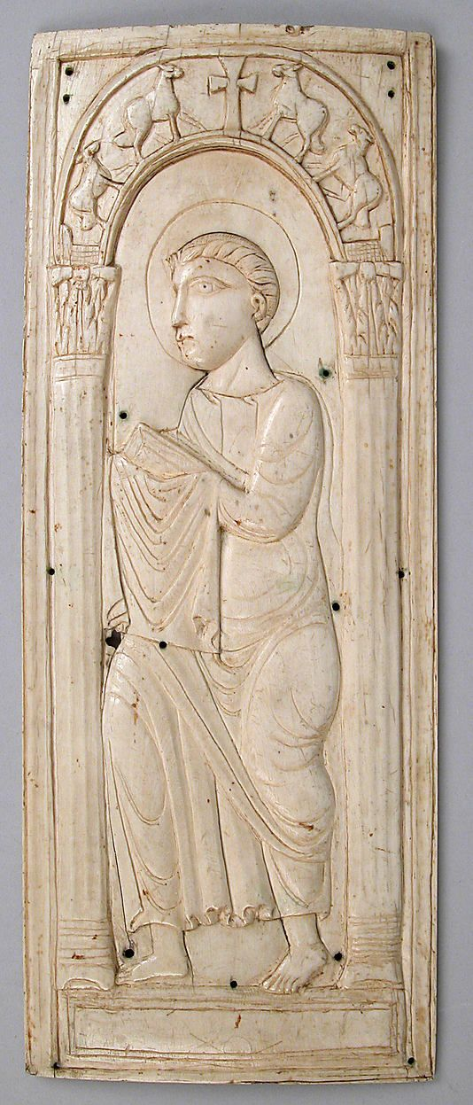 Ivory Plaque with Saint Paul (?)  5th-6th century  Ivory