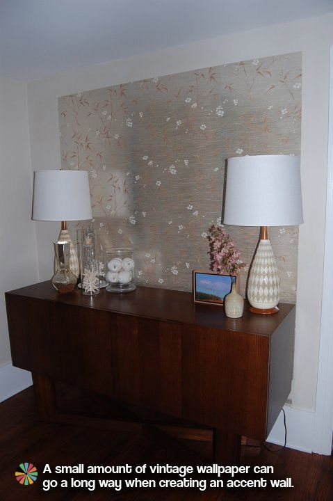 wallpaper a large panel and sit on unit.  claresdiningroomw-text