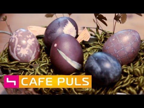 OSTEREIER FÄRBEN mit GEMÜSE & KRÄUTERN | Café Puls - YouTube