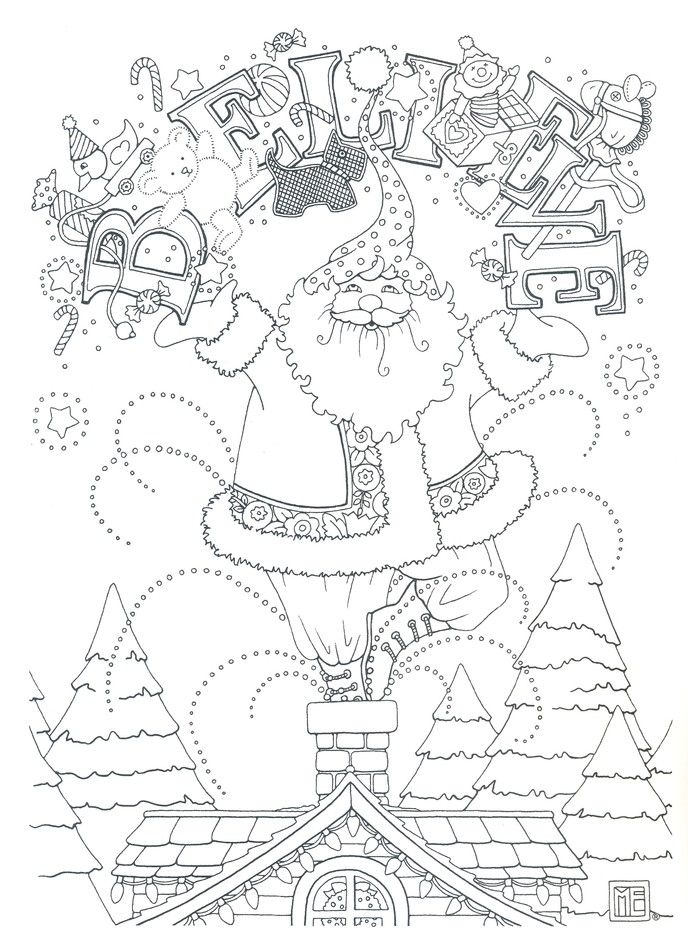mary engelbreits color me christmas coloring book - Mary Engelbreit Coloring Book