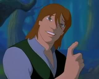 Garret from Quest for Camelot.  How many times do you see a blind man who can kick major butt in a movie/comic/book?