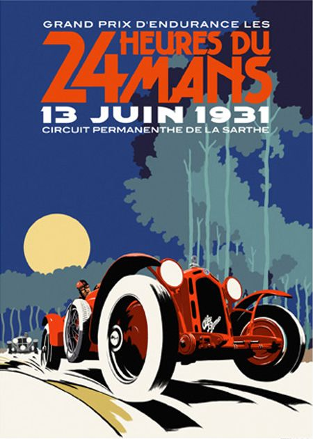 1931 Le Mans poster (maybe replica)