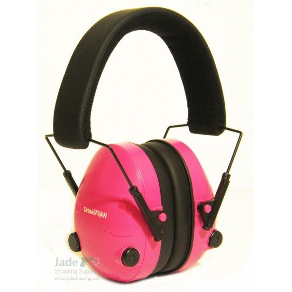 Champion Pink Electronic Ear Muffs-Got these for Christmas and I love them! http://impactsportelectronicearmuff.com/electronic-ear-muffs/champion-electronic-ear-muffs/