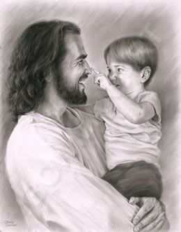 The Savior tells us we need to become as little children to inherit the kingdom of God. I've often wondered what it is about little children Jesus loves most, and I think its their innocence. They are clean slates, seeing the world and others through untarnished eyes. Their hearts are pure, without the baggage of cynicism and self-doubt. Imagine how a child would act upon meeting the Master for the first time!