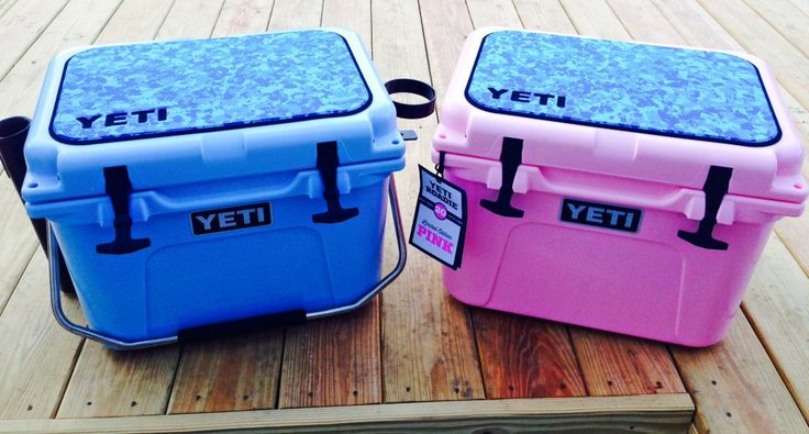Check out these awesome Yeti Roadies! This pair of SeaDek pads were custom made in aqua camo over black with routed yeti logos and look great.