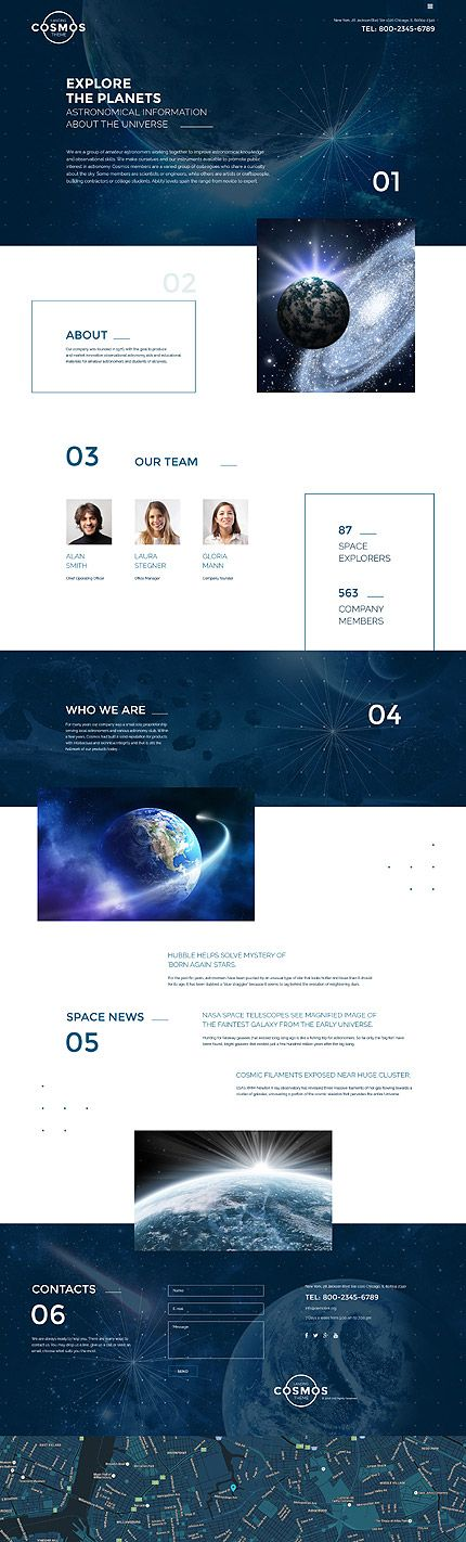 Science • Most Popular • Espresso Web Inspiration at your Coffee Break! Responsive JavaScript Animated • Template #58596
