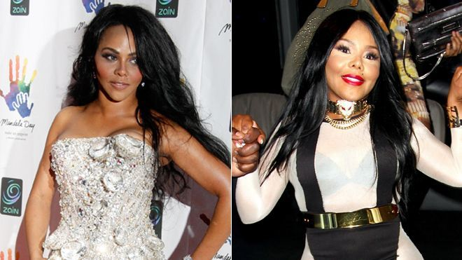 Lil' Kim    Though rapper Lil' Kim won't admit to having any plastic surgery done, these pictures of her in 2008 (left) and 2013 (right) seem to tell a different story. The singer looks almost nothing like her younger self, leaving fans to wonder just what work she has had done.     Mysterious.