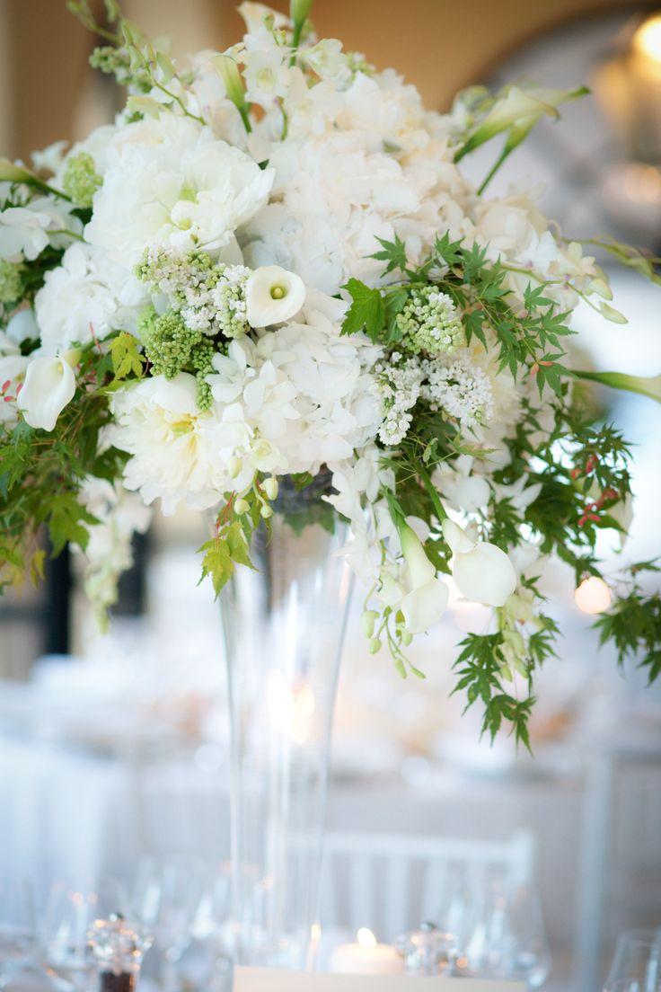 278 best tall centerpieces images on pinterest floral for Floral arrangements for wedding reception centerpieces