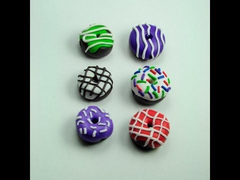 ▶ TUTORIAL Donuts de Fimo/Arcilla Polimérica   Donut (Manualidades Fáciles) # 2 - YouTube