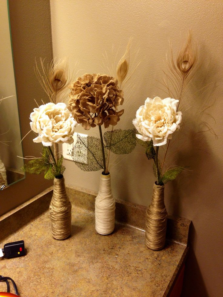 455 best recycled office stuff images on pinterest for Recycled centerpiece ideas